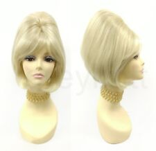 60s Beehive Wig Sixties Retro Blonde Short Straight Vintage Costume Drag