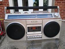 VTG SONY CFS-400 BOOMBOX AM/FM CASSETTE TAPE PORTABLE STEREO 1980's Works!!