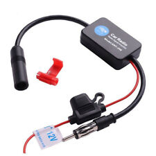 Car Fm Radio Amplifier Antenna Signal Booster Am 12v Aerial Amp Auto Stereo D6Y0