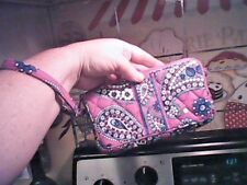 New VERA BRAD. Small Wristlet Purple Pattern Mini Purse