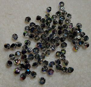 Swarovski crystal bead lot 3mm swarovski bicones vitrial medium