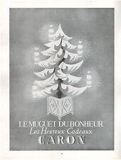 ▬► PUBLICITE ADVERTISING AD Produits de beauté Muguet du bonheur CARON 1954