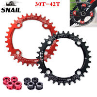 SNAIL 104bcd 30-42T MTB Bike Chainring & Bolts Narrow Wide Round Oval Chainwheel