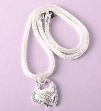 Kette 925 Sterling Silber plattiert Liebe Schmuck Halskette Herz Medaillon Neu