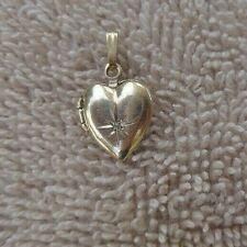 MINUTE 14K RG & DIAMOND CHIP PUFFED EDWARDIAN HEART LOCKETCa. 1910