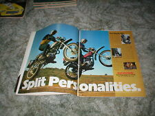 1974 HONDA XL Series Cycle ad 2 pages XL-125  XL-250  XL-350  XL-100 Enduro
