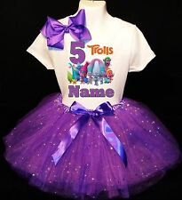 Trolls  Dress 5th Birthday --With NAME-- party Tutu outfit