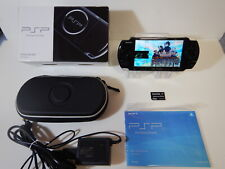 Sony Playstation PSP 3000 Console Piano Black Very good condition BOXED  W/8GB