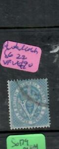 BRITISH COLOMBIA (P2101BB)  3D SG 22   VFU  ANTIQUE OVER 100 YEARS OLD