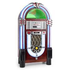JUKEBOX BLUETOOTH CD MP3 PLAYER USB SD AUX RADIO TUNER PLATTEN SPIELER LED LICHT