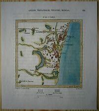 1883 Perron map MADRAS CHENNAI, INDIA (#121)