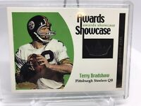 TERRY BRADSHAW 2001 FLEER SHOWCASE Awards Game Used Jersey STEELERS /100 HOF MNT