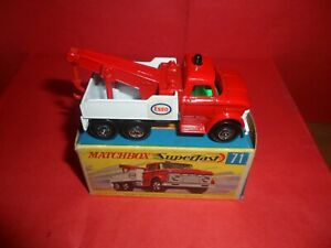 HTF Matchbox Sup/fast #71-Ford Heavy Wrecker,Nr Mint In Excellent Orig Box,1970.