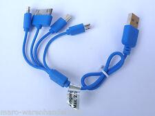 (6,80€/Einheit) 1x Cartrend Micro Mini USB Auto Ladekabel 4in1 CE-geprüft blau