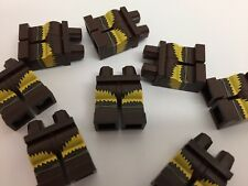 Lego - Neuf Marron/jaune design à motif mini figurines jambes / 1 pièce