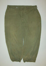 Vtg WWII 1940s US Army 13 star metal buttons HBT M43 Fatigue Field Pants Trouser
