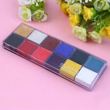 Professional 1 Set 12 Colors Flash Tattoo Face Body Paint Oil Painting  MT