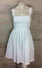 Betsey Johnson White Eyelet Fit & Flare Dress Women's Size 6