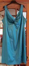 NEW Julien Macdonald Star turquoise satin dress.  Size 16