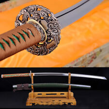 Japanese Samurai Sword Katana Sharp pattern steel Full Tang wood Sheath #1702