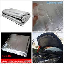 Car Truck Turbo Exhaust Muffler Aluminised Barrier Mat Heat Shield Cover 1m*1.4m