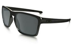 NEW Oakley SLIVER XL Black polished w Black Iridium Lens Sunglass OO9341-05