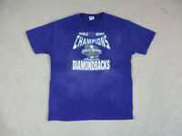 VINTAGE Arizona Diamondbacks Shirt Adult Large Purple World Series Baseball 90s*