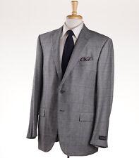 NWT $3095 ERMENEGILDO ZEGNA Gray Glen Check Wool-Cashmere Suit 38 S Fit Milano