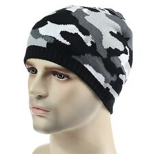 Home Prefer Men's Winter Hat Outdoor Camo Knitted Fleece Lined Beanie S... , New