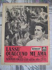 """PUBBLICITA' FILM """"LASSU' QUALCUNO MI AMA"""" PAUL NEWMAN RIVISTA EPOCA DEL 24/3/57"""