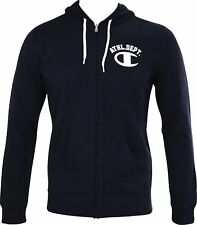 Champion Heritage Mens Full Zip Hooded Sweatshirt - Navy