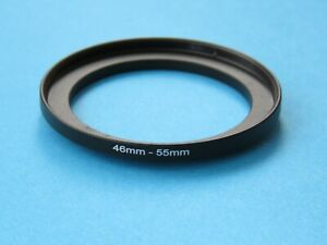 46mm to 55mm Step Up Step-Up Ring Camera Lens Filter Adapter Ring 46mm-55mm