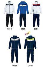 Tuta Uomo Givova Matador microfibra Passeggio Sport Calcio Palestra Fitness Blu/grigio/fluo 0404 M