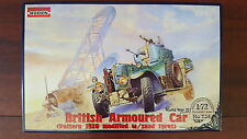 BRITISH ARMOURED CAR (PATTERN 1920 w/Sand Tyres) RODEN 1/72 PLASTIC KIT
