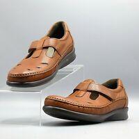 SAS Roamer Tripad Comfort Chestnut Brown Leather Mary Jane Loafer Shoe /US 9.5 S