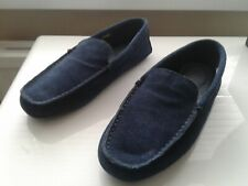 BNWT Navy CLARKS Suede Loafer Slippers Size 7 Fathers Day