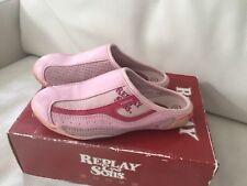 Replay Mädchen,Schuhe Clogs,Gr.31, Rose,Rot,pink,Nubukleder,Textil,Hausschuhe