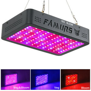 FAMURS 1000W Triple Chips LED Grow Light Full Spectrum with Veg Bloom Switches