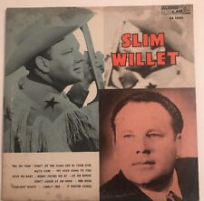 SLIM WILLET Self Titled S/T 1960 Audio Lab AL 1542 VG + Mono LP Country