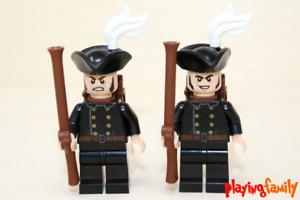 LEGO Pirates of the Caribbean - 2 Soldaten mit Rucksack aus LEGO®-Teilen - MOC