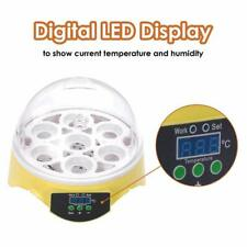 New listing 7Eggs Digital Fully Automatic Incubator for Chicken Eggs Humidity Control Clear-