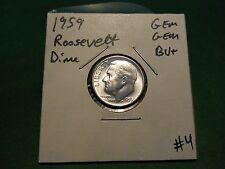 1959 Roosevelt Dime GEM GEM BU+ Super Nice 90% Silver Dime!!!