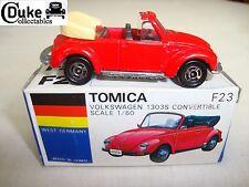 TOMICA 1:60 F23 VOLKSWAGEN BEETLE CONVERTIBLE RED - EXCELLENT in orig BOX