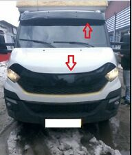 Sun Visor and Bug Guard Solid Black Acrylic 2014-2018 For IVECO DAILY