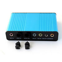6 Channel 5.1 S/PDIF Optical USB External Sound Card Audio Adapter For PC Laptop