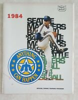 1984 SEATTLE MARINERS PROGRAM SPRING TRAINING SCORECARD vs ANGELS UNSCORED