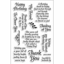 Stampendous Perfectly Clear Stamp, Friendly Phrases Image , New, Free Shipping