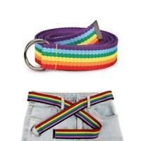 Trendy Regenbogenfarben Exquisite Taillengürtel Pretty Canvas Skinny Waist Belt