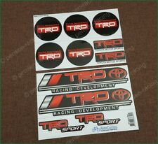 Toyota TRD Red Stickers Wheel Center Caps Vinyl Laminated Decals 63mm 2 1/2""