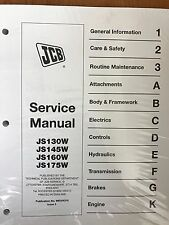 JCB Service Manual JS130W, JS145W JS160W JS175W Wheeled Excavator